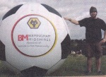 ball inflatable, bola gede raksasa terbuat dari balon,